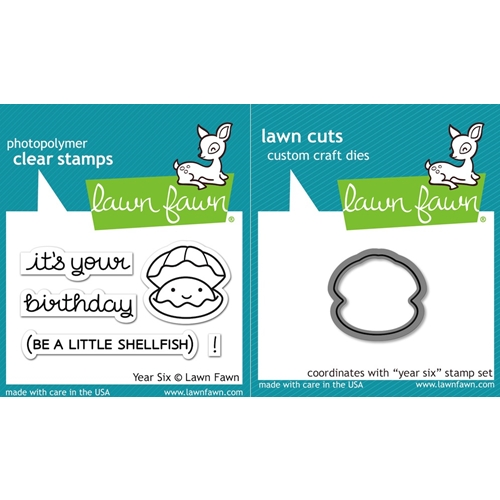 Lawn Fawn SET LF16SETYS YEAR SIX Clear Stamps and Dies Preview Image