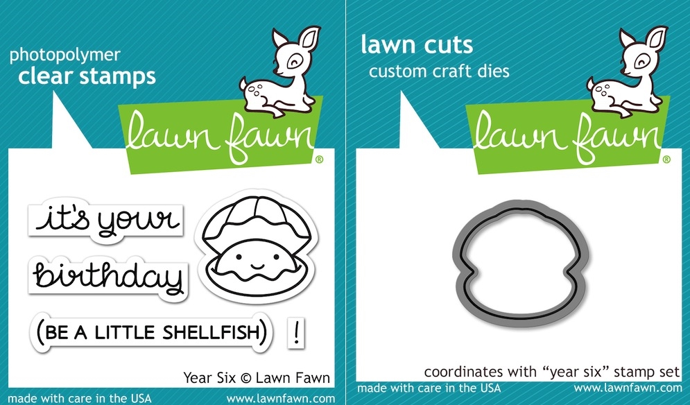 Lawn Fawn SET LF16SETYS YEAR SIX Clear Stamps and Dies zoom image