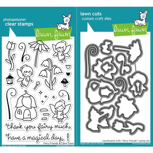 Lawn Fawn SET LF16SETFF FAIRY FRIENDS Clear Stamps and Dies Preview Image