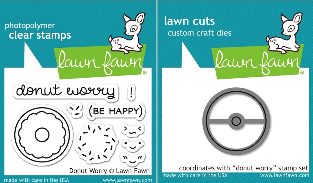 Lawn Fawn SET LF16SETDW DONUT WORRY Clear Stamps and Dies zoom image