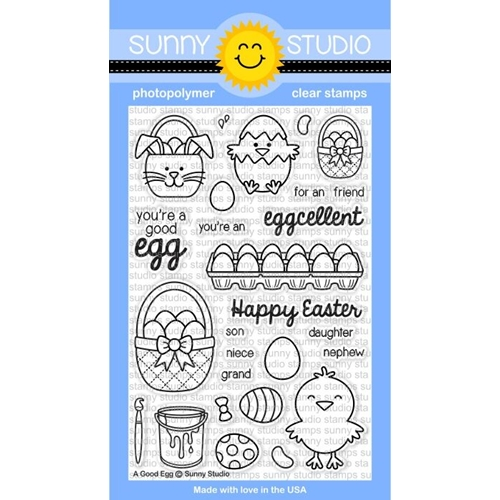 Sunny Studio A GOOD EGG Clear Stamp Set SSCL-119* Preview Image