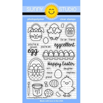 Sunny Studio A GOOD EGG Clear Stamp Set SSCL-119*