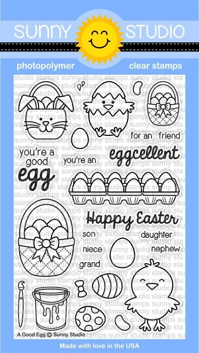 Sunny Studio A GOOD EGG Clear Stamp Set SSCL-119* zoom image