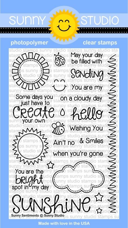 Sunny Studio SUNNY SENTIMENTS Clear Stamp Set SSCL-124 zoom image