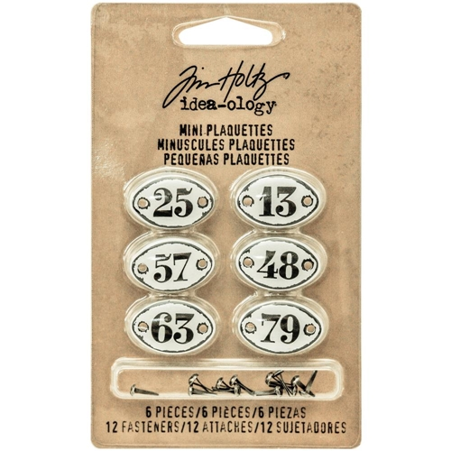 Tim Holtz Idea-ology MINI PLAQUETTES Findings TH93296 Preview Image