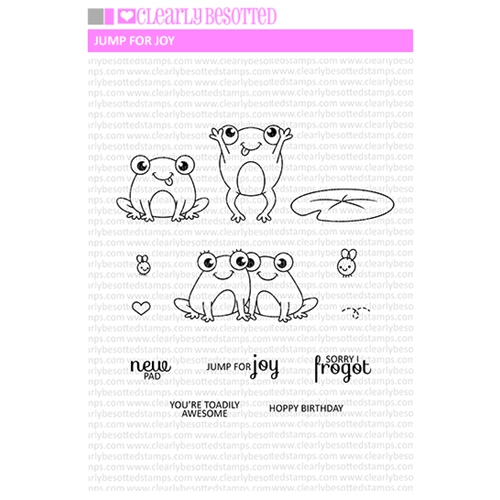 Clearly Besotted JUMP FOR JOY Clear Stamp Set Preview Image