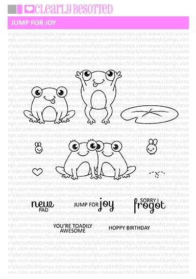 Clearly Besotted JUMP FOR JOY Clear Stamp Set zoom image