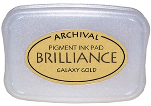 Tsukineko Brilliance GALAXY GOLD Archival Ink Pad BR-91 Preview Image