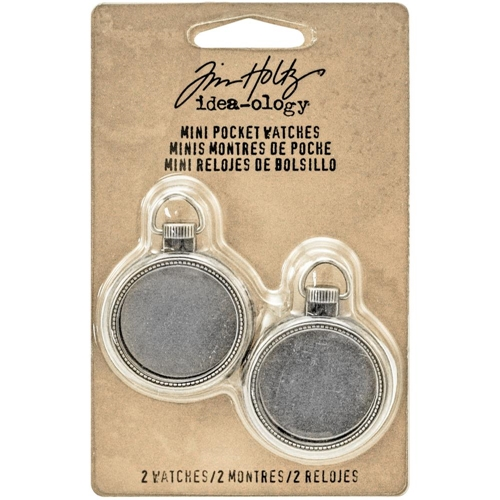 Tim Holtz Idea-ology MINI POCKET WATCHES Findings TH93274 Preview Image