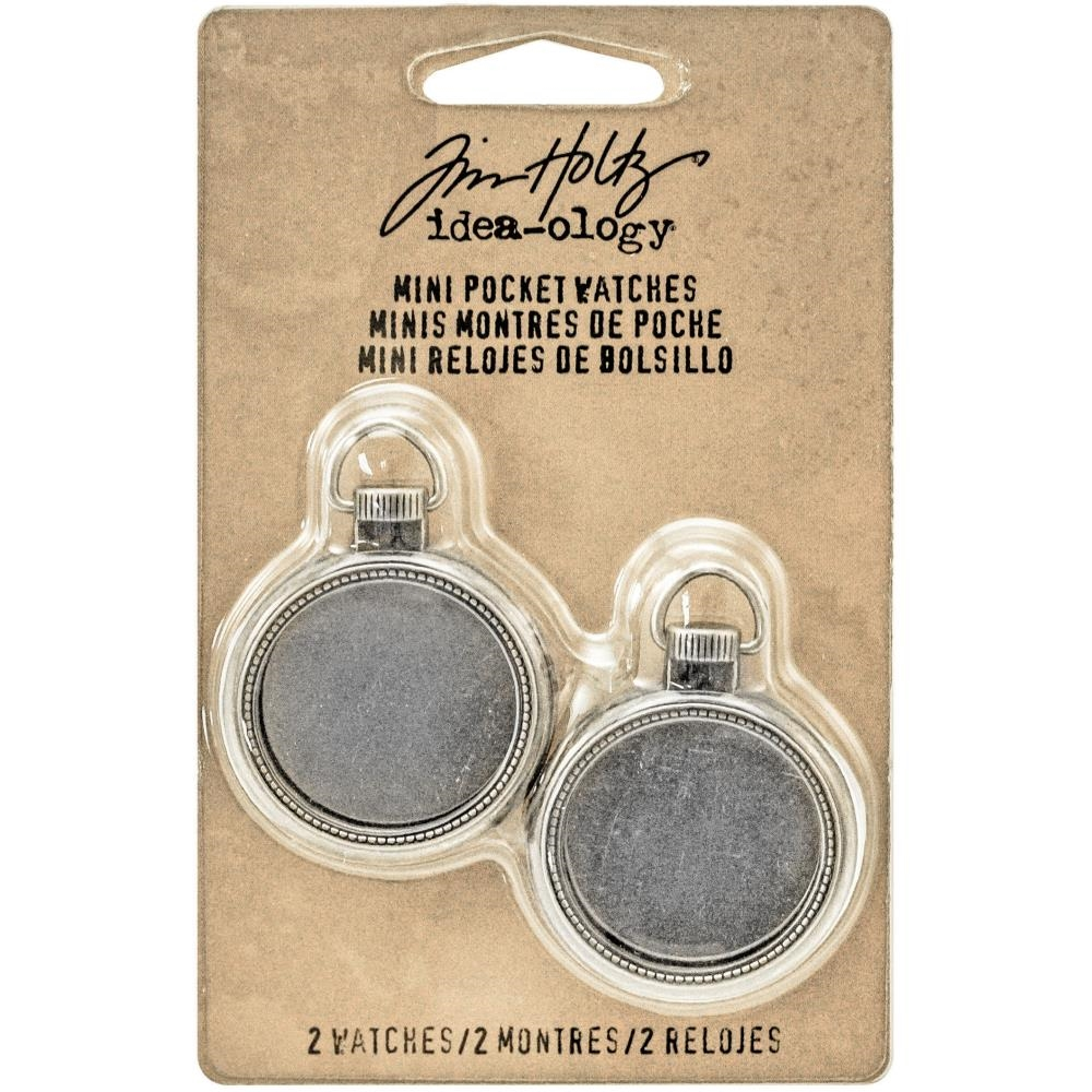 Tim Holtz Idea-ology MINI POCKET WATCHES Findings TH93274 zoom image