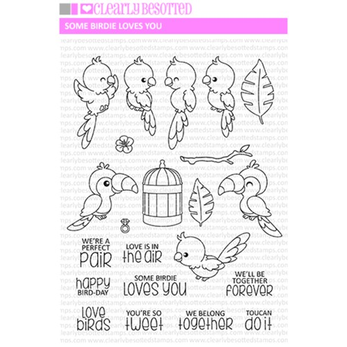 Clearly Besotted SOME BIRDIE LOVES YOU Clear Stamp Set  Preview Image