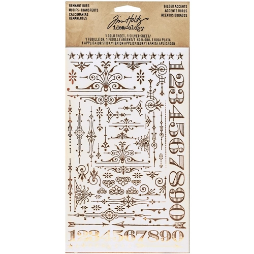 Tim Holtz Idea-ology GILDED ACCENTS REMNANT RUBS Findings TH93287 Preview Image