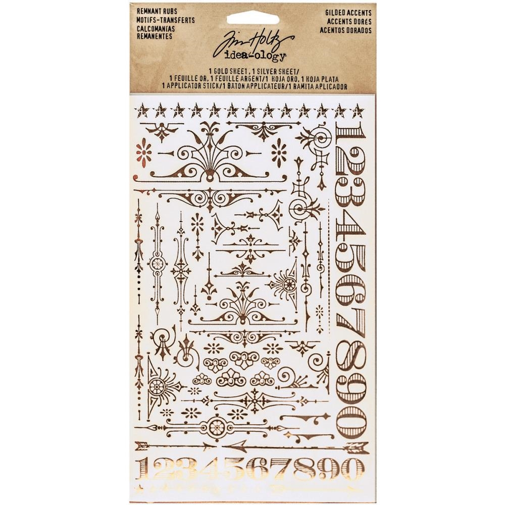 Tim Holtz Idea-ology GILDED ACCENTS REMNANT RUBS Findings TH93287 zoom image