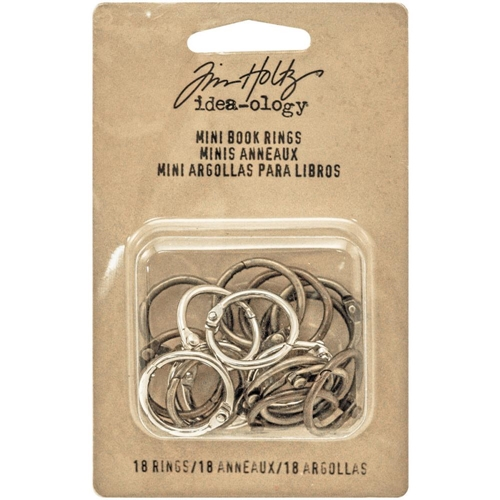 Tim Holtz Idea-ology MINI BOOK RINGS Fasteners TH93272 Preview Image