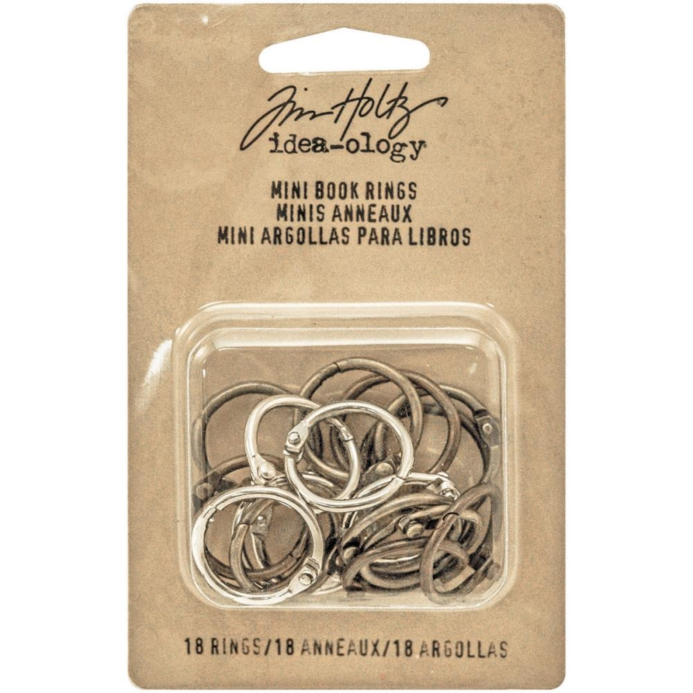 Tim Holtz Idea-ology MINI BOOK RINGS Fasteners TH93272 zoom image