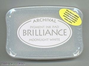 Tsukineko Brilliance MOONLIGHT WHITE Archival Ink Pad BR-80 Preview Image