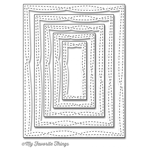 My Favorite Things WONKY STITCHED RECTANGLE STAX Die-Namics MFT839 Preview Image