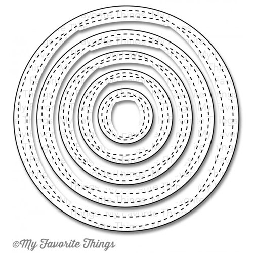 My Favorite Things WONKY STITCHED CIRCLE STAX Die-Namics MFT841 Preview Image