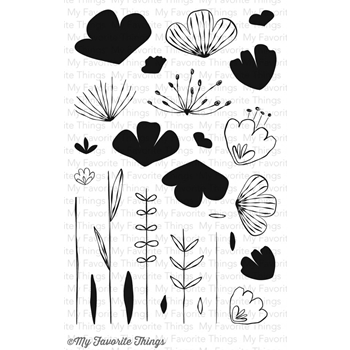 My Favorite Things SKETCHED BLOOMS Clear Stamps CS98
