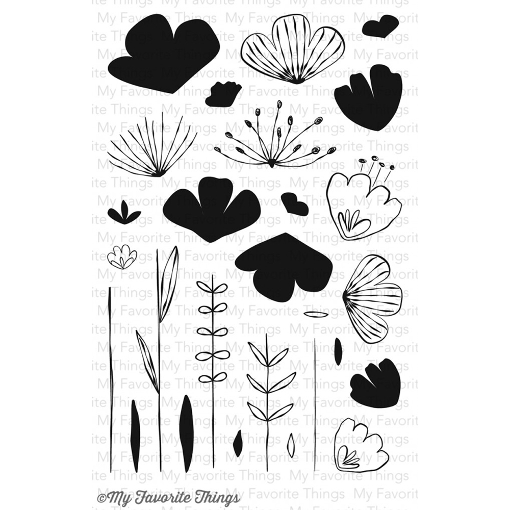 My Favorite Things SKETCHED BLOOMS Clear Stamps CS98 zoom image