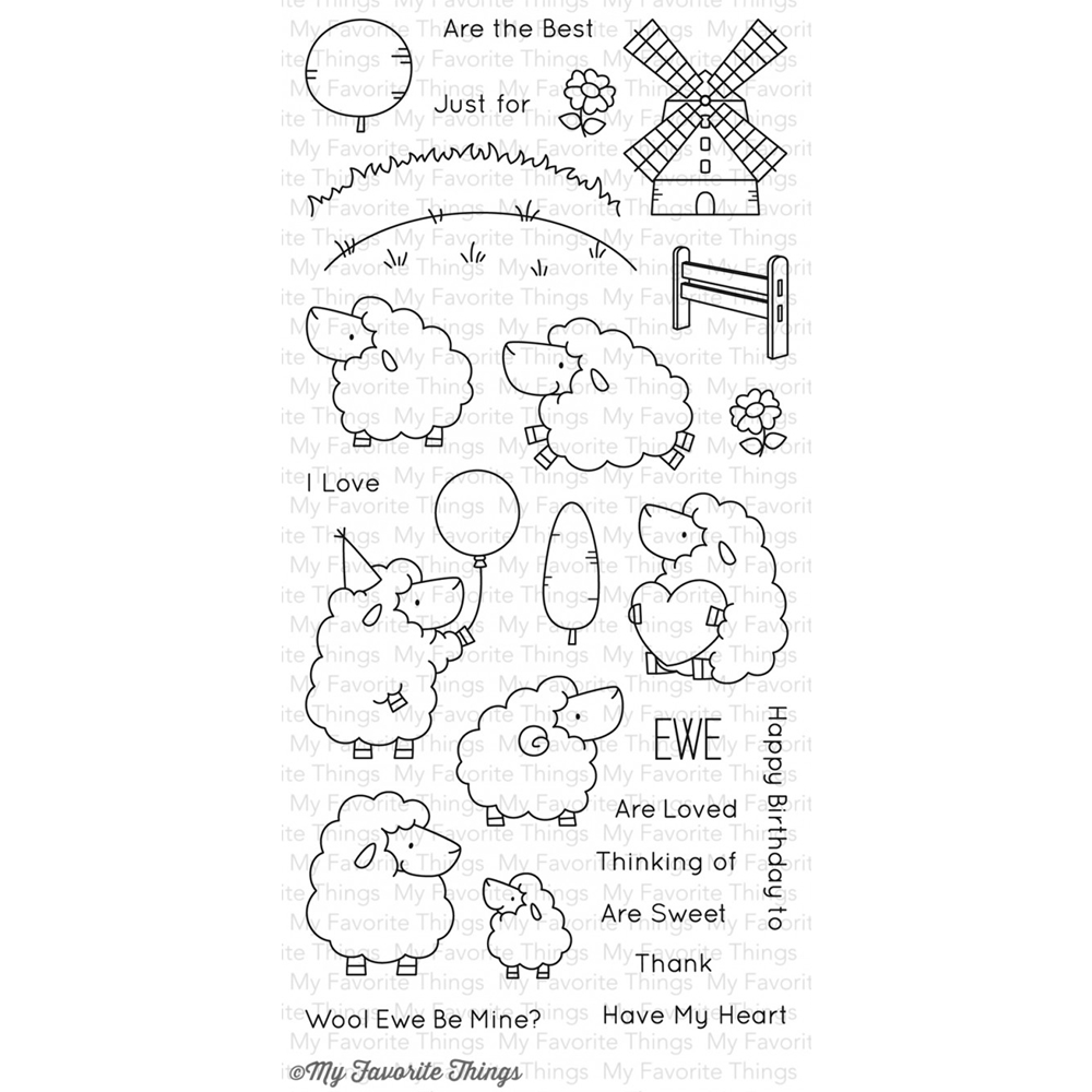 My Favorite Things EWE ARE THE BEST Clear Stamps BB29 zoom image