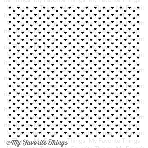My Favorite Things MINI HEARTS Background Cling Stamp MFT BG66 Preview Image