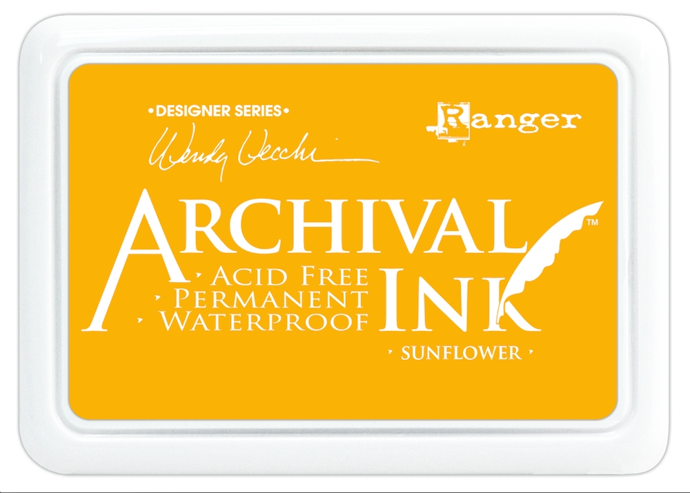 Ranger Wendy Vecchi Archival SUNFLOWER Ink Pad AID49005 * zoom image