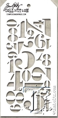 Tim Holtz Layering Stencil NUMERIC THS054 zoom image