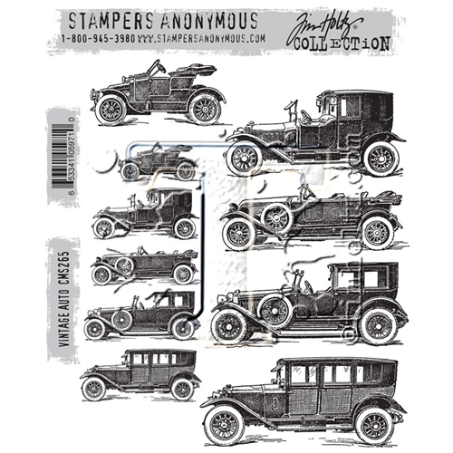 Tim Holtz Cling Rubber Stamps VINTAGE AUTO CMS265 Preview Image