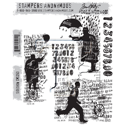 Tim Holtz Cling Rubber Stamps SIDESHOW CMS263 Preview Image