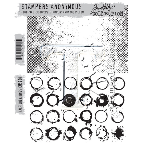 Tim Holtz Halftone and Rings Cling Stamps