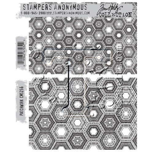 Tim Holtz Cling Rubber Stamps PATCHWORK CMS256 Preview Image