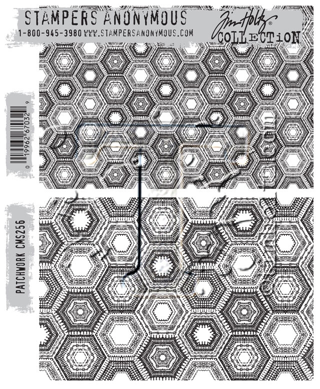 Tim Holtz Cling Rubber Stamps PATCHWORK CMS256 zoom image