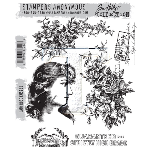 Tim Holtz Cling Rubber Stamps LADY ROSE CMS255 Preview Image