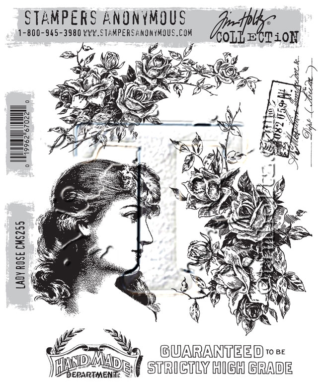 Tim Holtz Cling Rubber Stamps LADY ROSE CMS255 zoom image