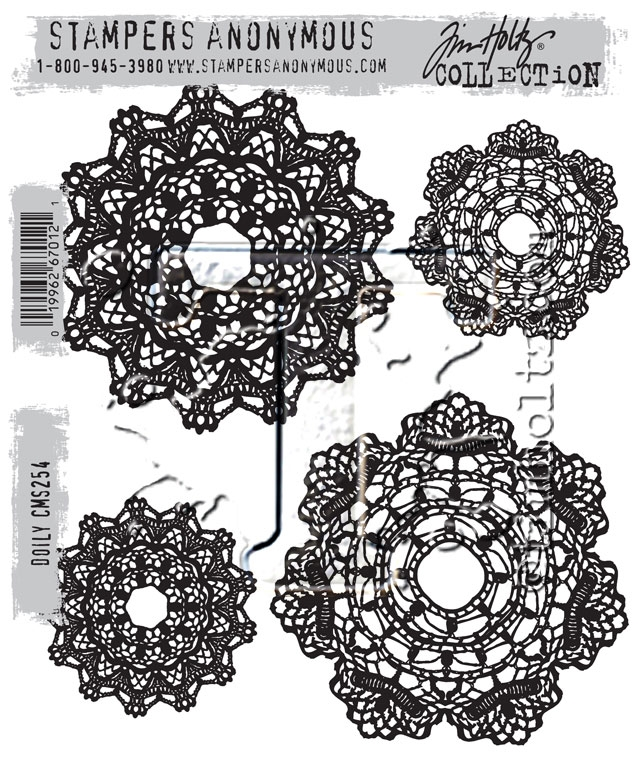 Tim Holtz Cling Rubber Stamps DOILY CMS254 zoom image