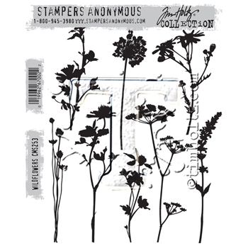 Tim Holtz Cling Rubber Stamps WILDFLOWERS CMS253