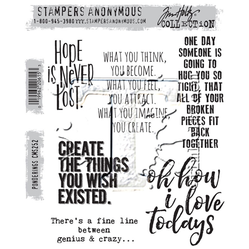 Tim Holtz Cling Rubber Stamps PONDERINGS CMS252 Preview Image