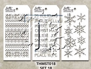 Tim Holtz MINI STENCIL SET 18 MST018 zoom image