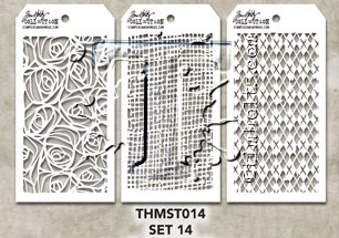 Tim Holtz MINI STENCIL SET 14 MST014 Preview Image