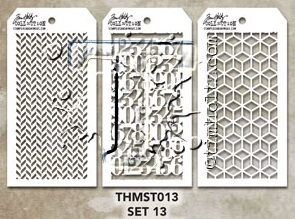 Tim Holtz MINI STENCIL SET 13 MST013 zoom image