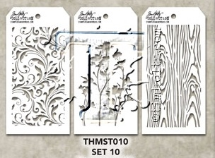 Tim Holtz MINI STENCIL SET 10 MST010 zoom image