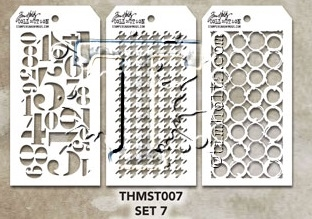 Tim Holtz MINI STENCIL SET 7 MST007 zoom image
