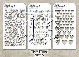 Tim Holtz MINI STENCIL SET 6 MST006 zoom image