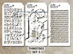 Tim Holtz MINI STENCIL SET 3 MST003 zoom image