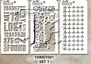 Tim Holtz MINI STENCIL SET 1 MST001 zoom image