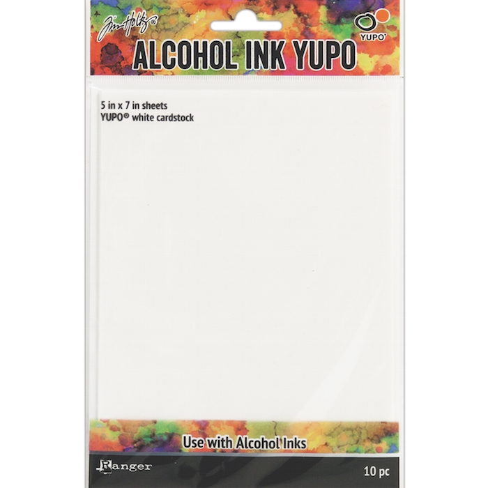 Tim Holtz WHITE ALCOHOL INK YUPO PAPER Ranger TAC49715 zoom image