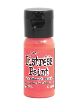 Tim Holtz Flip Top Distress Paint ABANDONED CORAL Ranger TDF50186 zoom image