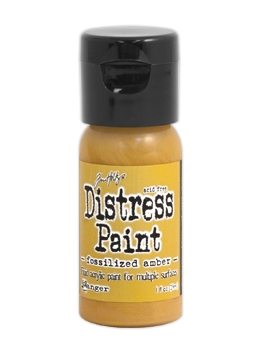 Tim Holtz Flip Top Distress Paint FOSSILIZED AMBER Ranger TDF50209 zoom image