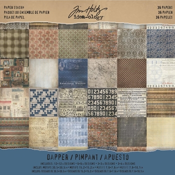 Tim Holtz Idea-ology 12 x 12 Paper Stash DAPPER TH93260